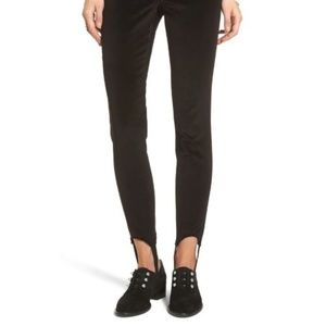 Stone Row Stirrup Legging Jeans High Rise velvet